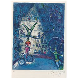 Le Cirque VII- Chagall - Limited Edition on Canvas