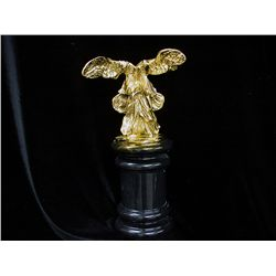 Dali Limited Edition 24K Gold Layered Bronze  Sculpture- Winged Bust on Marble Base