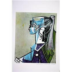 Picasso Limited Edition - Portrait Of Sylvette - from Collection Domaine Picasso