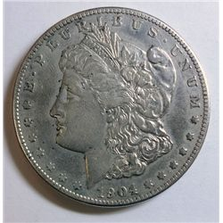 1904-S MORGAN DOLLAR XF/AU