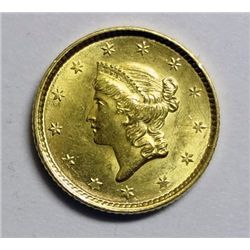1852 T1  $1 Gold  NICE  BU