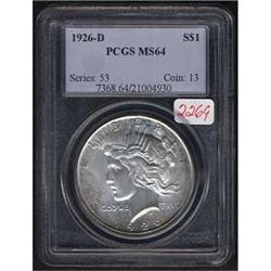 1926-D Peace Dollar PCGS MS64