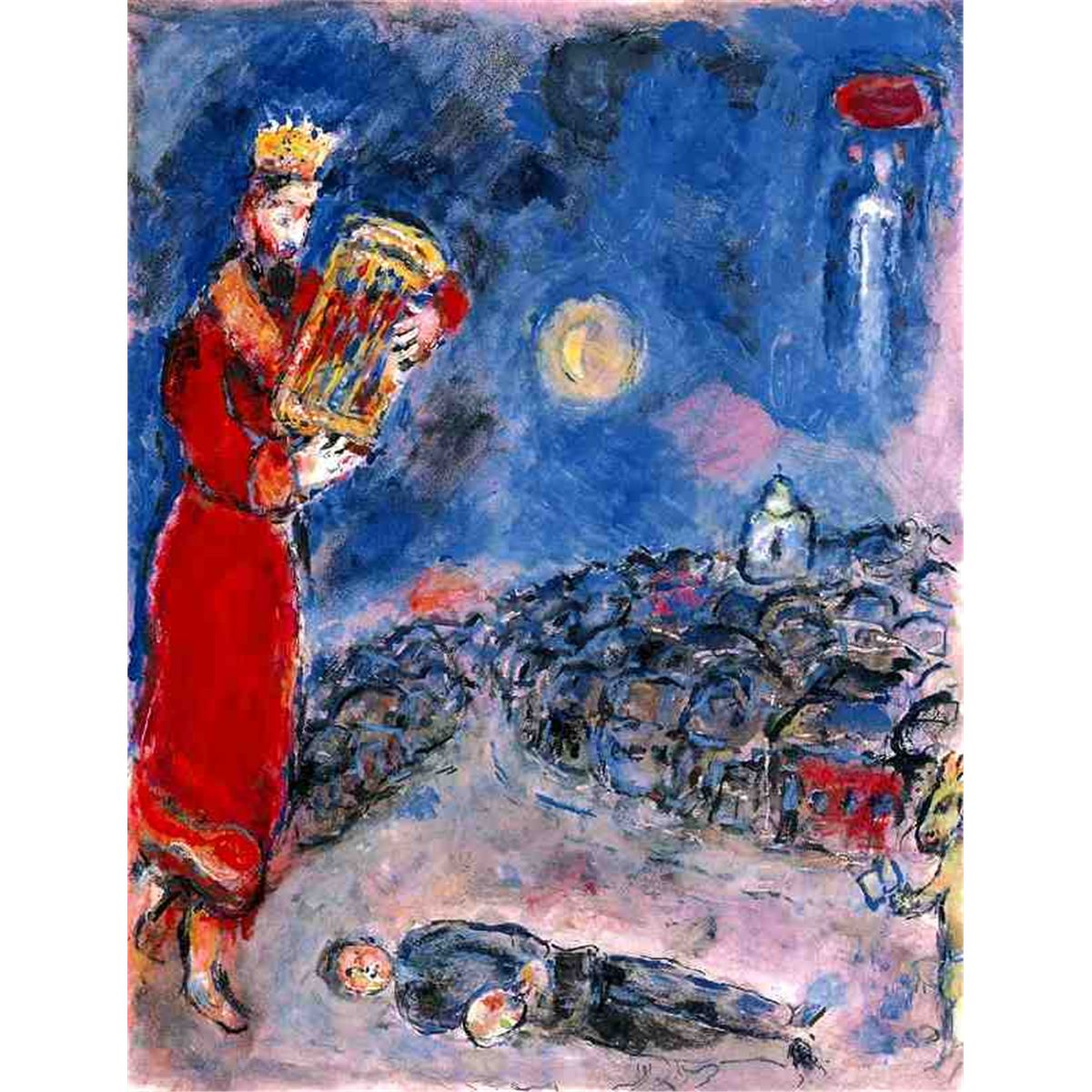 Marc Chagall Quot King David With Artist Quot