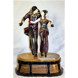 Bal Costume - Bronze and Ivory Sculpture by Chiparus