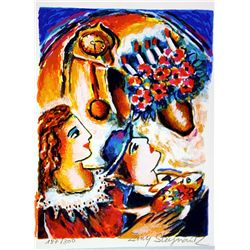 Hand Signed and Numbered Original Lithograph by Zamy Steynovitz - Precious Time
