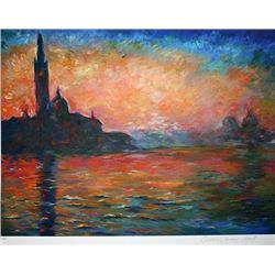 Limited Edition Monet- Venice At Dusk - Collection Domaine Monet