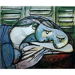 Limited Edition Picasso - Sleeping Woman Before Green Shutters - Collection Domaine Picasso