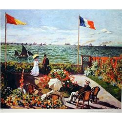 Limited Edition Monet- Terrace By The Seaside - Collection Domaine Monet