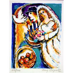 Hand Signed and Numbered Original Lithograph by Zamy Steynovitz - Love and Peace