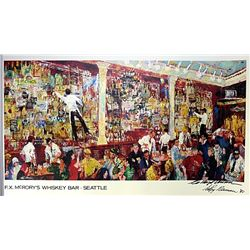 Leroy Neiman Double Signed Lithograph - F.X. Mc Rory's Whiskey Bar  Seattle