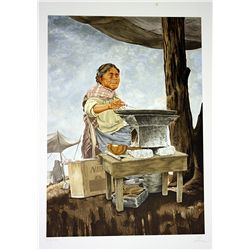 Vic Herman Signed and Numbered Lithograph - Our Daily Bread