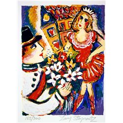 Hand Signed and Numbered Original Lithograph by Zamy Steynovitz - Brave Tin Soldier