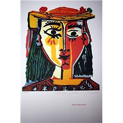 Limited Edition Picasso - Bust Of A Woman With Hat - Collection Domaine Picasso
