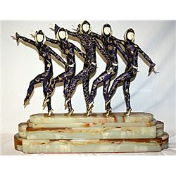 Les Girls - Bronze and Ivory Sculpture by Chiparus