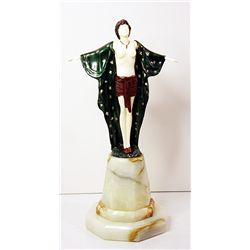 Spring Awakening - Bronze and Ivory Sculpture by Preiss