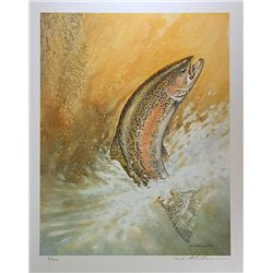 Mike Stidham Limited Edition Lithograph  Jumping Trout