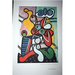 Limited Edition Picasso - Large Still Life On A Pedestal Table - Collection Domaine Picasso