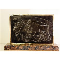 Pablo Picasso  Original, Limited Edition Bronze - Bullfighting