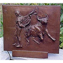 Picasso Original Signed Limited Edition Bronze Plaque - Bullfight Corrida Matador