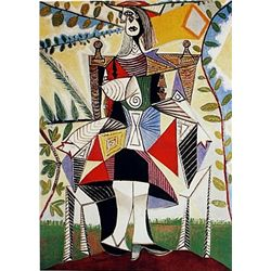 Limited Edition Picasso - Seated Woman In A Garden - Collection Domaine Picasso
