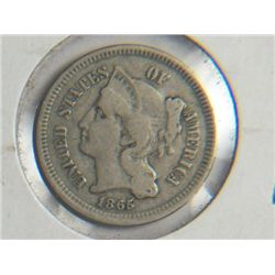 1865 3 cent NICKEL