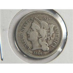 1866 3 cent NICKEL