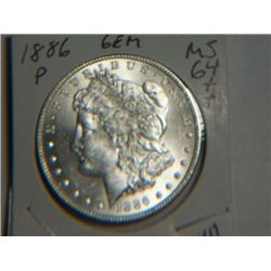1886 P MORGAN DOLLAR
