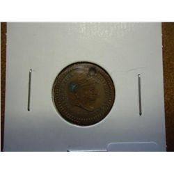 "1863 CIVIL WAR TOKEN ""ARMY AND NAVY"" (HOLED)"