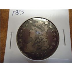 1813 BUST HALF DOLLAR HOLED AND FILLED