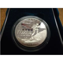 1991 KOREAN WAR PROOF SILVER DOLLAR