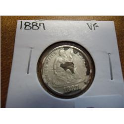 1887 SEATED LIBERTY DIME (AS SHOWN)