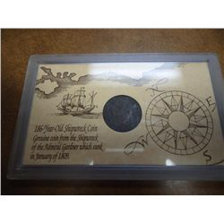 SHIP WRECK COIN FROM THE ADMIRAL GARDNER
