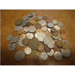 1 POUND OF NICE ASSORTED FOREIGN COINS