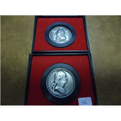2 US MINT AMERICAS 1ST MEDALS
