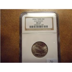 2006-P SMS COLORADO QUARTER NGC MS67