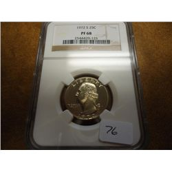 1972-S WASHINGTON QUARTER NGC PF68