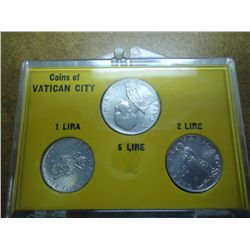 1952/53 COINS OF VATICAN CITY (UNC) (AS SHOWN)