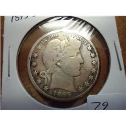 1895-S BARBER HALF DOLLAR (VERY GOOD)