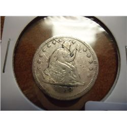 1858 SEATED LIBERTY QUARTER (EXTRA FINE)