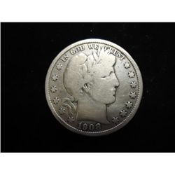 1908-D BARBER HALF DOLLAR (VERY GOOD)