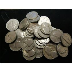 ROLL OF 40-1939 JEFFERSON NICKELS
