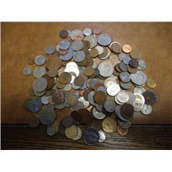 GREAT 2 POUND ASSORTMENT OF FOREIGN COINS