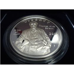 2004 THOMAS EDISON PROOF SILVER DOLLAR