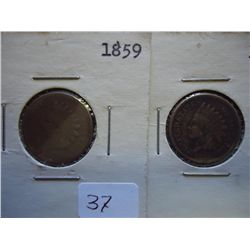 1859 & 1860 INDIAN HEAD CENTS