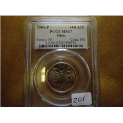 2002 OHIO QUARTER PCGS MS67