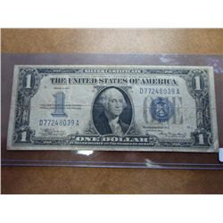 1934 ONE DOLLAR FUNNY BACK SILVER CERTIFICATE