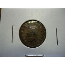 "1864 CIVIL WAR TOKEN ""THE UNION"" (CLIPPED)"