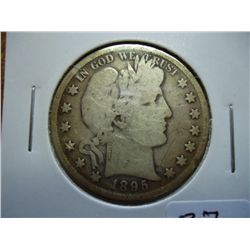 1895 BARBER HALF DOLLAR (VERY GOOD)