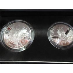 1989 US CONGRESSIONAL PROOF 2 COIN SET