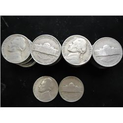 ROLL OF 40-1940-D JEFFERSON NICKELS